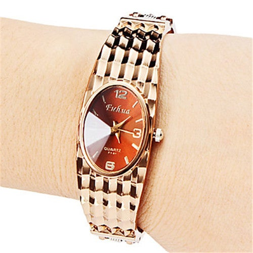 Luxury Rose Golden Women Dress Watch