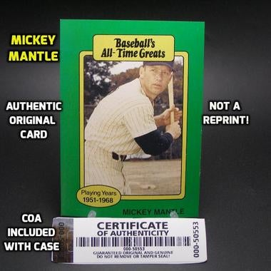*AUTHENTIC ORIGINAL* MICKEY MANTLE Baseball Card*