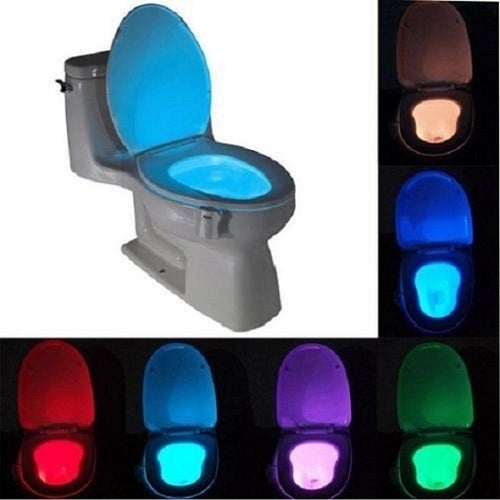 For Toilet 8 Colors LED Motion Activated Nightlight