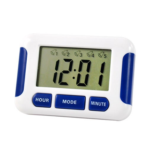 Alarm Clock 5 Groups Noisy Bell 12/24 Hours Countdown Home House Lab Library Laboratory Drug Timer