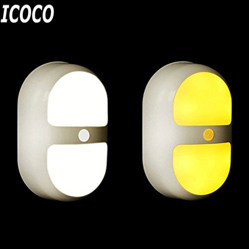 ICOCO 120 Degrees 10 LED Double Loop Induction Lamp Bright Motion Sensor Detection Light Home Decoration For Stairways Step