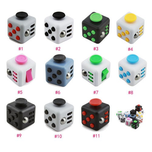 11 Colors Magic Fidget Cube Anti-anxiety Adults Stress Relief Toy Birthday Gifts