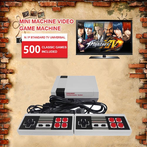 Mini Retro Classic NES Console TV Game 500 Built-in Games+2 Handle Controllers