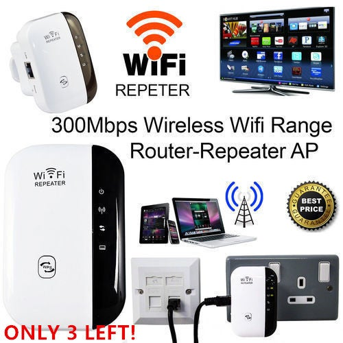 Wireless-N Wifi Repeater 802.11n/b/g Network Wi Fi Routers 300Mbps Range Expander Signal Booster Extender WIFI Ap Wps