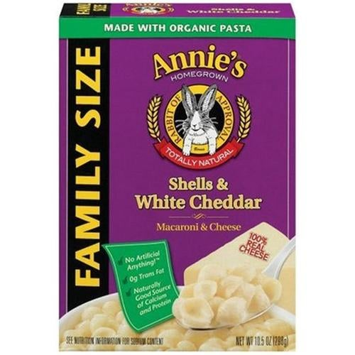 Annies Homegrown 24795 Shells & White Cheddar Family Size