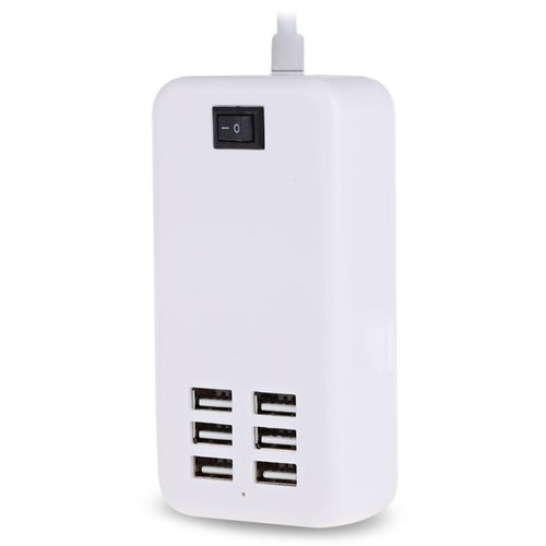 6 USB Port Multiple USB Wall Charger 15W 3A Smart Mobile Phone Device Data Charge Devices