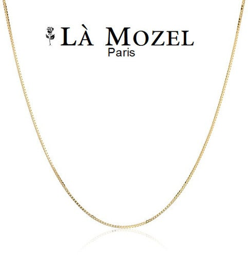 """14K Yellow Gold High Polish Classic Box Link Chain Necklace - 16"""""""