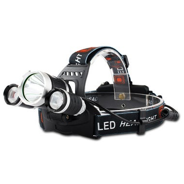 3 LED Camping Hunting Fishing Headlamp Head Light without Battery and charger