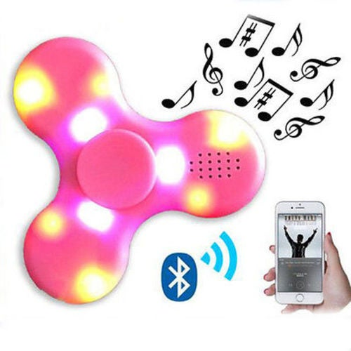 New LED Bluetooth Speaker Hand Spinner Fidget Torqbar Finger Gyro EDC ADHD Autism