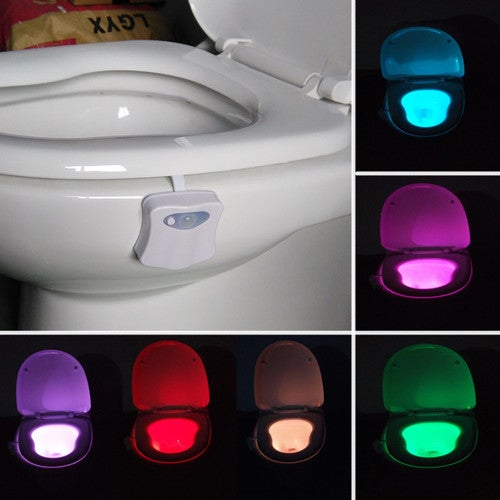 RGB LED lamp to change the color of the 8 children toilet bathroom toilet bowl lamp Nightlight activated motion sensor lamp