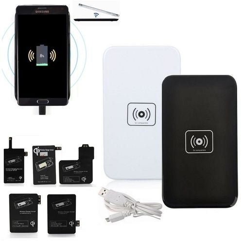NEW Qi Wireless Charger Charging Pad + Receiver Set Kit For Samsung Galaxy S5 ONLY