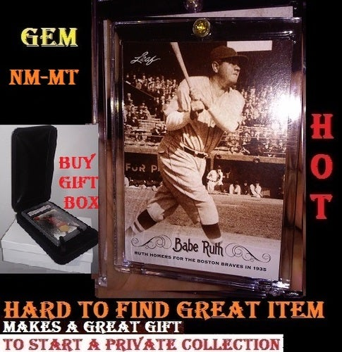 Babe Ruth HARD TO FIND and Original - 2016 LEAF 1935 Home Run Comes in Hard Case MINT Number 80