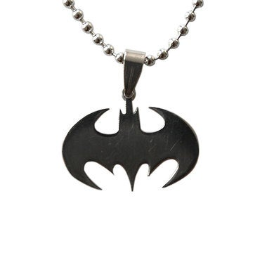 Bat Stainless Steel Silvery Necklace