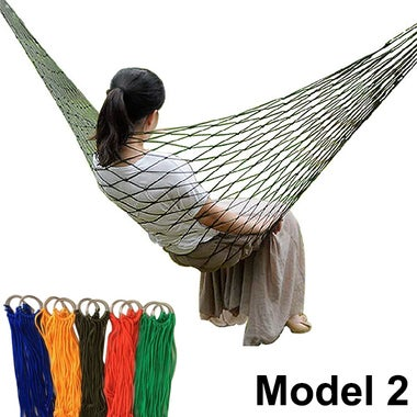 Fashion Outdoors Nylon Rope Hammock Hot Sale Swing Hammock For Camping Hiking