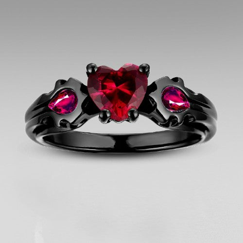 Dragon Fire Heart CZ Ring 1395