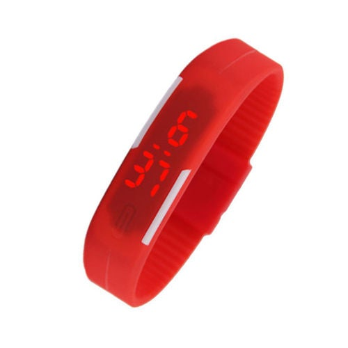 LED Watch with White stripes