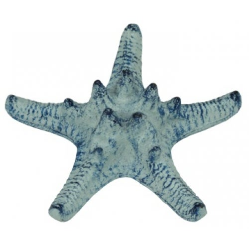 Nautical Coastal Armour Starfish Antiqued Blue Cast Iron Table Decor