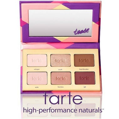 Tarte Tartelette Tease eye shadow palette featuring six flirty shades