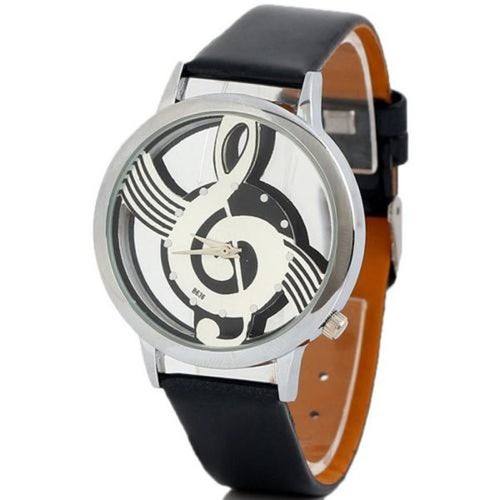 Music Symbol Patterned Watch