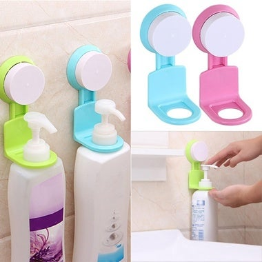 Home Supplies Strong Suction Cup Sucker Shower Shampoo Bathroom Wall Rack Hooks
