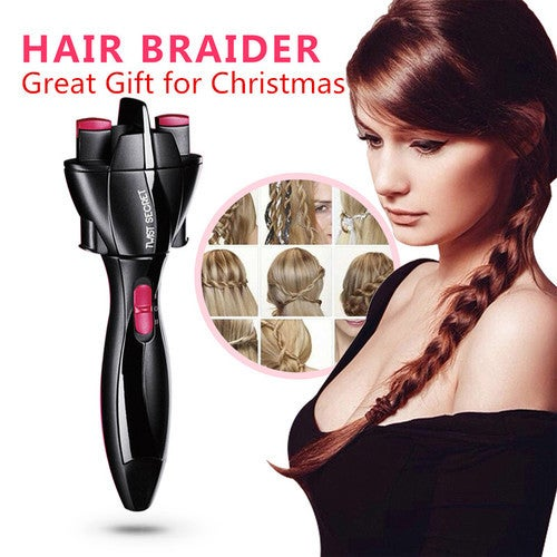 Great Gift for Christmas DIY Hair Twister Quick Twist Tie Artifact Braided Hair Braided Automatic Machine Hair Twist Tool