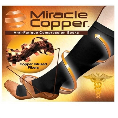b918fc62d0 Miracle Copper Unisex Socks Anti Fatigue Compressio... | Tophatter