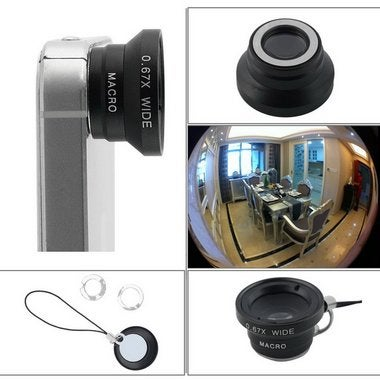 0.67 X Detachable Wide Angle Macro Camera Lens for Mobile Phones iPhone HG