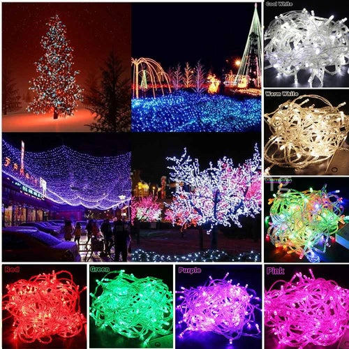 2017 HOT Christmas Led String Lights 10M 100 Lights Xmas Holiday Light Outdoor Decor Lamp for Party Wedding Garden Christmas Fairy