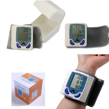 LCD Digital cuff Wrist Blood Pressure Monitor watch Precision Medical Sphygmoman