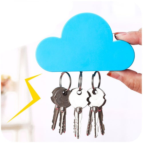 Cloud Shape Home Storage Holder Creative Magnets Key Hanger Rack Decorative Wall Hook For Kitchen Organizer Bathroom Accessories