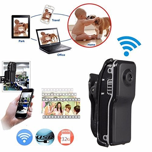 MD81 Mini WIFI IP Wireless Baby Camera Remote Surveillance DV Security Micro IP Camera Web Cam for Iphone Android Ipad PC with 8GB Memory Card