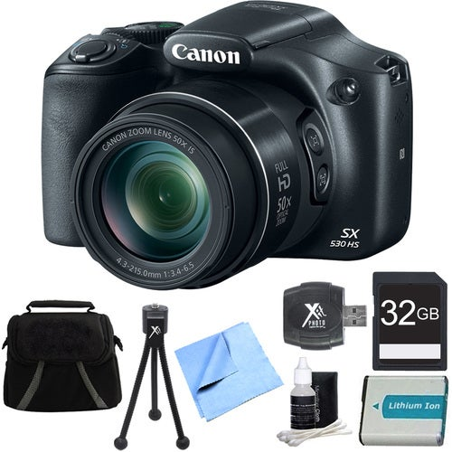 Canon PowerShot SX530 HS 16MP 50x Opt Zoom Full HD Digital Camera Bundle with 1150mah