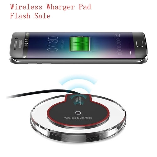 Ultra Slim QI Wireless Fast Charger Charging Pad for Samsung Galaxy S7 S6 Edge Plus Note 5 LG HTC