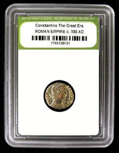 """""""Certified Authentic Sealed"""" 1700 YEAR OLD COIN """"Constantine The Great Era Roman Empire 330AD"""