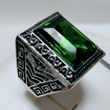 Jewelry Men Women Retro, Emerald classical Ring