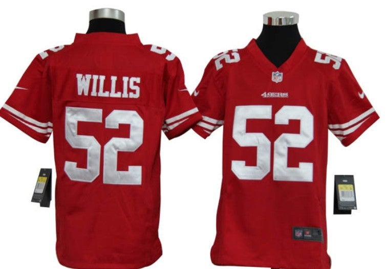 San Francisco 49ers #52 willis red Youth Jersey