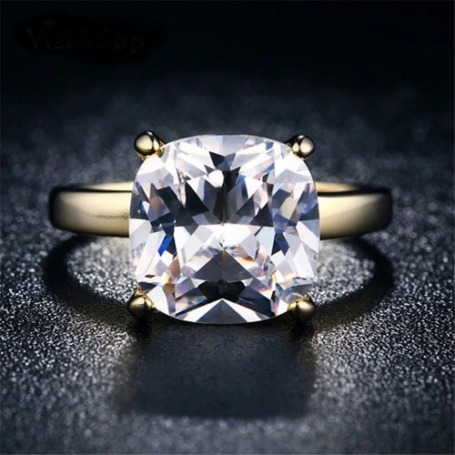 8Ct AAA CZ 18Kt Gold Clad Wedding Ring Sizes 6 - 9