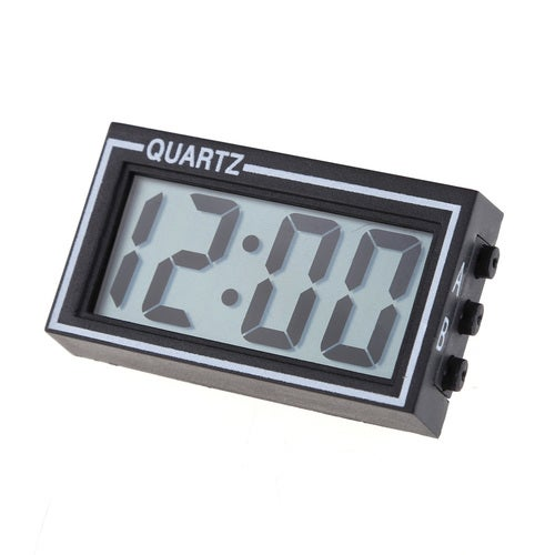 Home Decor Mini Desk Clocks Digital LCD Car Indoor Clocks Truck Dashboard Date Time Calendar Clock Brand Electronic clock BS
