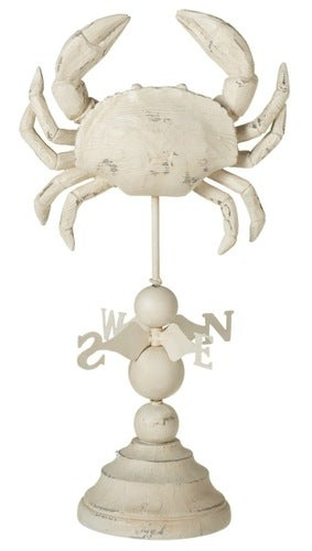 Crab Weather Vane Coastal Tabletop Figurine Decor 16 Inches