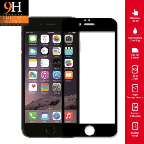 Real 3D Curved Full Cover Tempered Glass Screen protector film for iPhone 8
