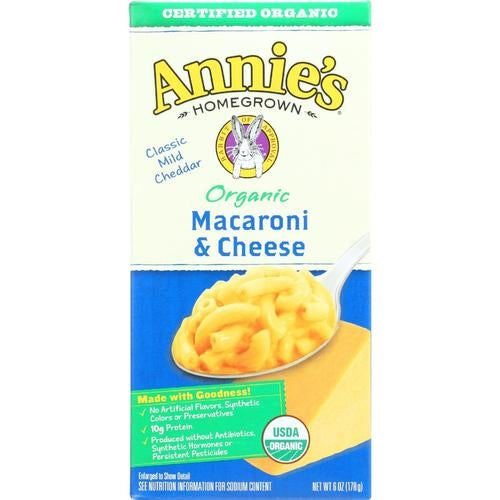 Annie's Homegrown Annies Homegrown Macaroni And Cheese - Organic - Classic - 6 Oz - Case Of 12