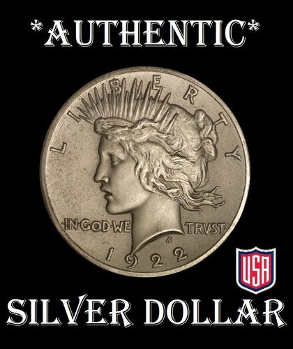 AUTHENTIC PURE SILVER PEACE DOLLAR!!! - NOT A REPLICA - USA SELLER!!!