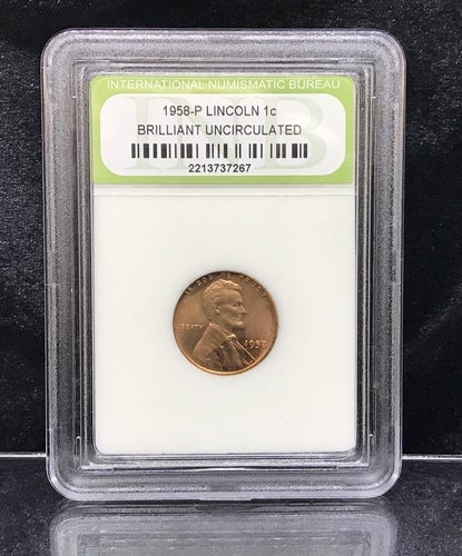 *INB Certified & Sealed* 1958-P LINCOLN 1c BRILLIANT UNCIRCULATED