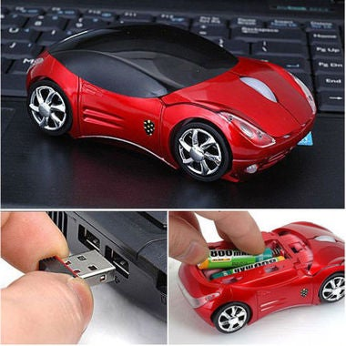 2.4GHz Wireless 3D 1600DPI Car Model Usb Optical Mouse
