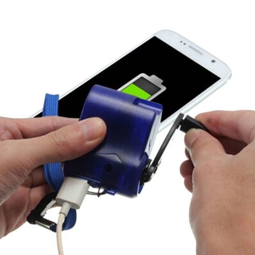 Outdoor Emergency Portable Hand Power Dynamo Hand Crank USB Charging Charger Universal