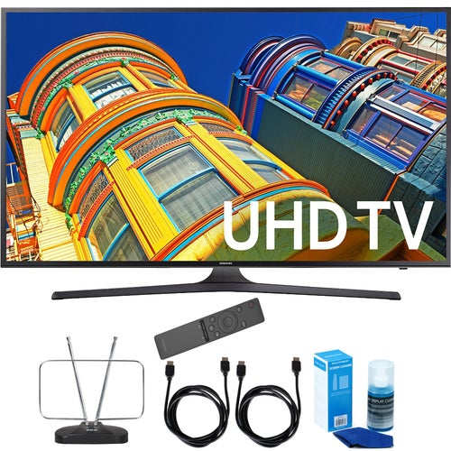 Samsung UN55KU7000 - 55 4K UHD HDR Smart LED TV KU7000 7-Series + Cord Bundle