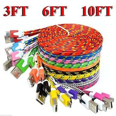 3/6/10FT 8 PIN USB Data Sync Charger Cable Braided For iPhone SE 5 5s 6 7 plus