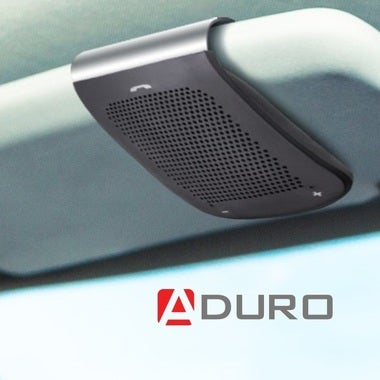 Aduro Wireless Visor Mounted Bluetooth Car Kit Speakerphone for all Phones, Hand