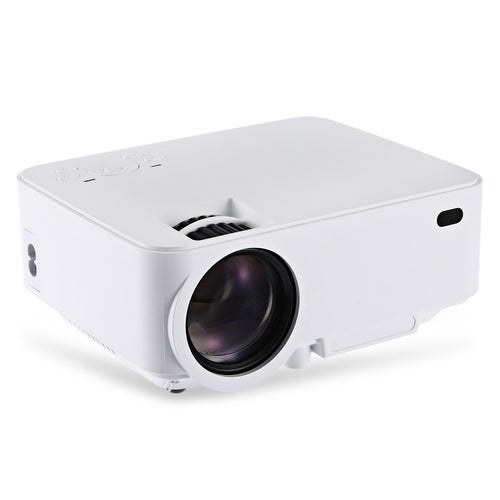 RUISHIDA M1 Portable 1500 Lumens 800 x 480 Pixels Projector with VGA HDMI USB SD Card Slot for Home Office Education