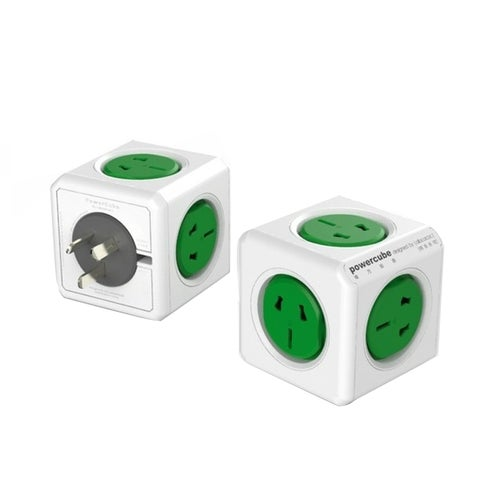 PowerCube 10A Universal Wall Adapter Power Socket With 5 Sockets For Home Office, Random Color Delivery